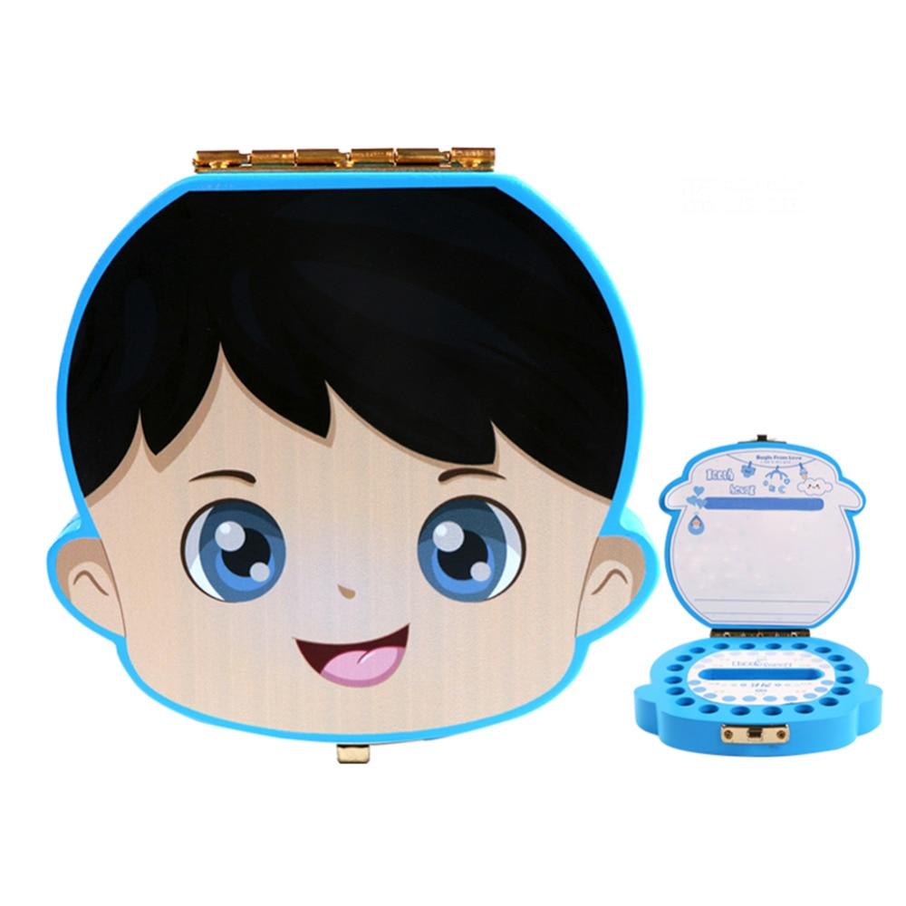 Kid Wood Deciduous Tooth Preservation Box Baby Tooth Keepsake Storage Box Milk Teeth Save Organizer Case Container English Case