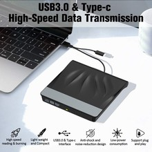 USB 3,0 Typ-C Externe DVD Brenner Schriftsteller Recorder Tragbare Super Drive CD/DVD ROM Player Optische Stick für Laptop Fenster 10/8/7