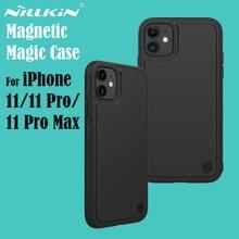 NILLKIN Magic Case สำหรับ iPhone 11 11 PRO MAX ปกหลังรถไร้สายชาร์จ PU หนังแม่เหล็กสำหรับ iPhone 11 Pro