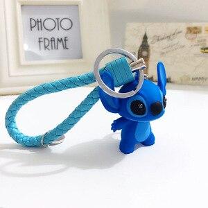 Image 4 - Cartoon Lilo und Stitch Schlüsselanhänger LED Stich Puppe Schlüssel Ring Sound Flash Seil Glocke Rucksack Pandent Geschenke