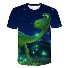 Xinyou dinossauro impresso 3d t-camisa congelado 2021 verão roupas de moda para crianças meninos do bebê meninas adolescentes topos vestuário traje