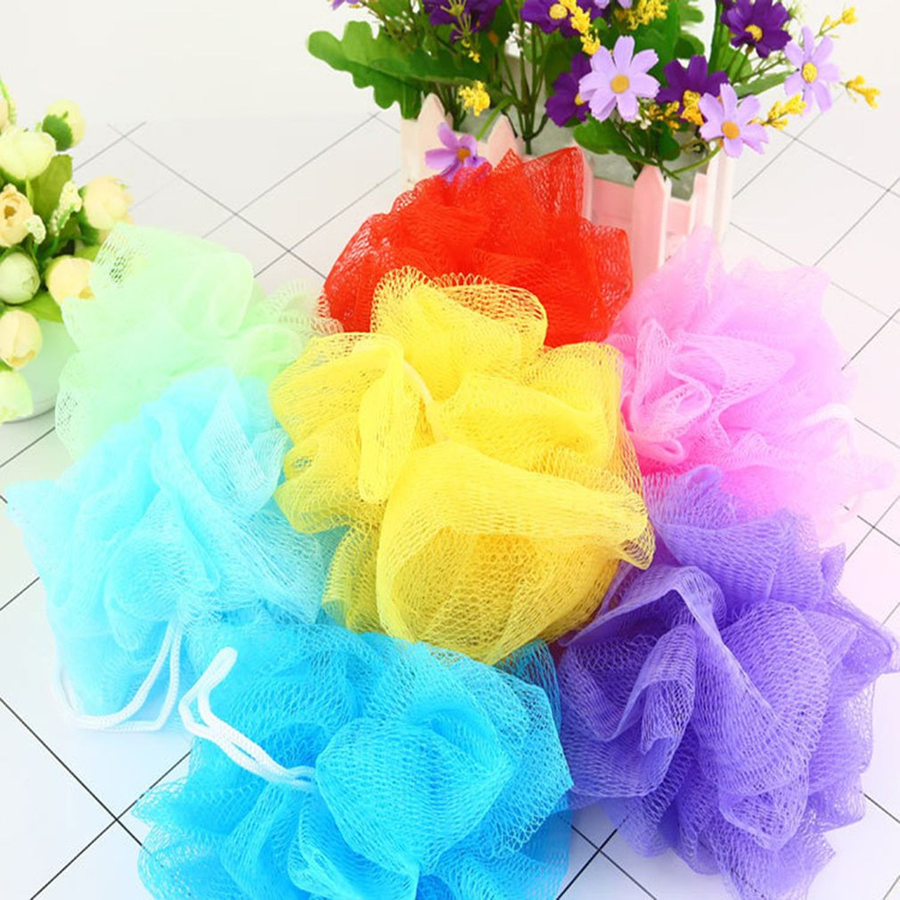 Small Size Rich Bubbles Bath Ball Tubs Scrubber Shower Body Cleaning Mesh Shower Wash Sponge Bath Accessories