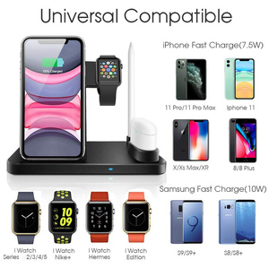 Image 2 - Wireless Charger 4 In 1 10W Phone Holder Fast Charger Station For Apple Watch 5 4 3 2 Airpods 1 2 Iphone 11 Pro Max XR X Docking