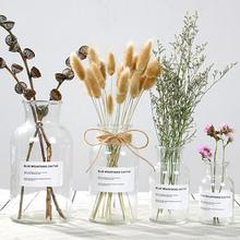 48h Glass Vase Flower Pot Flower Basket Flower Vase Decoration Home Nordic Decoration Dried Flower Hydroponic Small Brown Bottle