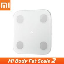 Orijinal Xiaomi Mijia akıllı ev vücut kompozisyonu ölçeği 2 Mi Fit App akıllı Mi vücut yağ ölçeği 2