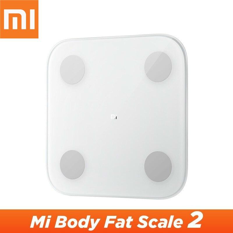 Оригинальный Xiao mi jia умный дом весы анализатор тела 2 mi Fit приложение Смарт mi напольные весы 2