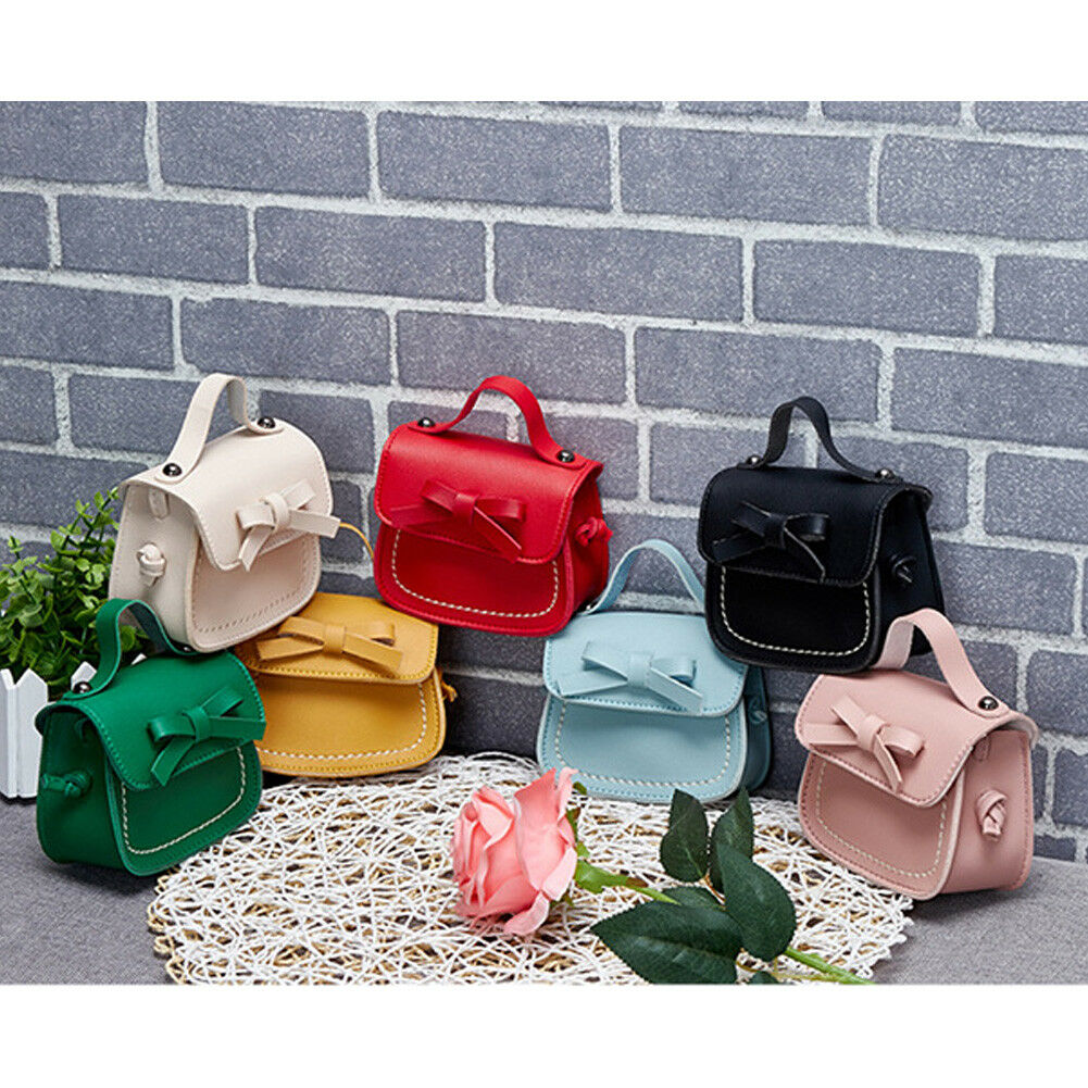 Fashion Women Girls Messenger Bags Girls Princess School Shoulder Bag Handbag Solid Bowknot Coin Purses