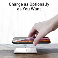 Baseus 15W Qi Wireless Charger Portable Ultra Thin Wireless Charging Pad for iPhone 12 11 Pro Xs XR 8 Samsung S10 S9 Xiaomi mi 9