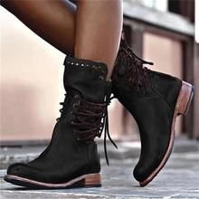 Winter Women Ankle Ethnic Boots Point Toe Leather Flower High Heel Rubber Platform Lace up Punk Black Ladies Shoes Botas Mujer jady rose embroidered women high heel ankle boots female autumn rivets platform botas mujer genuine leather lace up shoes woman
