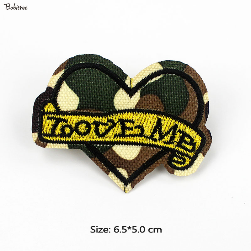 Iron On Love Me Heart Embroidery Applique Patch Sew Iron Badge