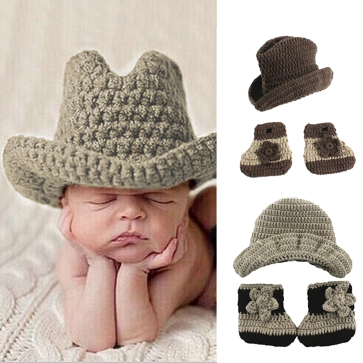 New Baby Photo Shoot Newborn Photography Props Baby Costume Infant Baby Knitting Fotografia Crochet Outfits Accessories
