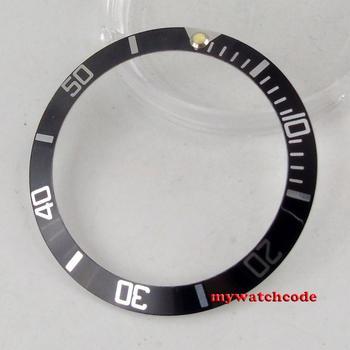 38mm black Aluminum alloy bezel insert for 40mm mens watch