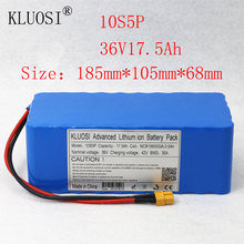 цена на KLUOSI 36V Battery 10S5P 17.5Ah for NCR18650GA with 35A Balance BMS 42V Li-Ion Battery Pack Ebike Electric Bicycle Motor Scooter