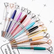 10 шт/лот шариковые ручки с кристаллами шариковая ручка модные