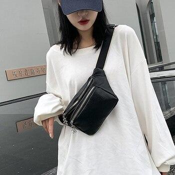 Luxury Waist Bag Women Shoulder Leather Designer Chest Bags Fashion Fanny Pack Travel Hip Female Belt Packs - discount item  34% OFF Women's Handbags