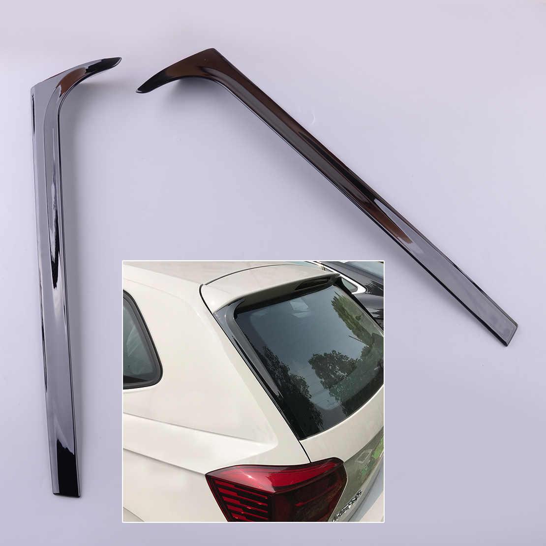 2X Rear Window Spoiler Side Wing Trim Cover For PoloMK6 2019-2020