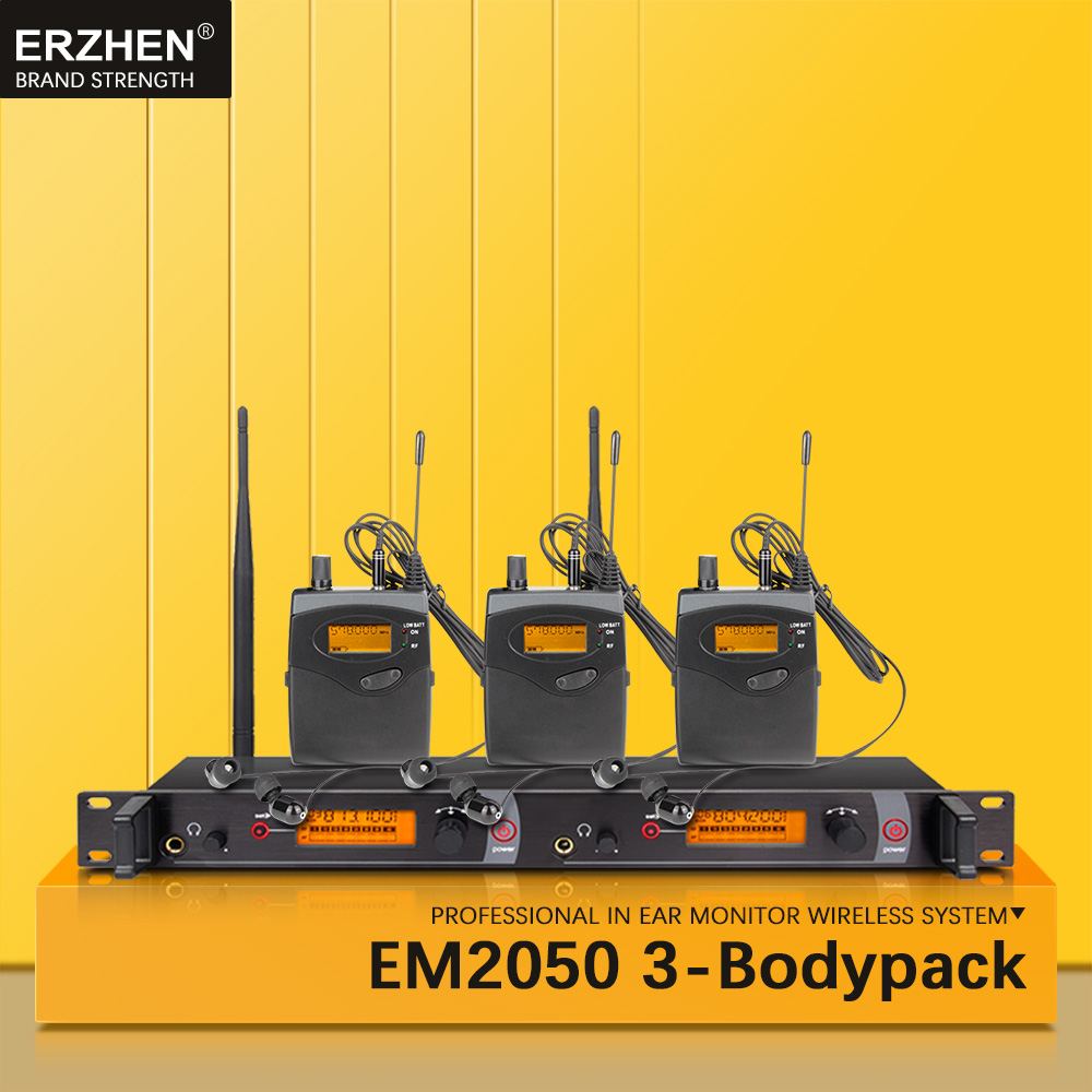 EM2050 In Ear Monitor Wireless System SR2050 Double transmitter Monitoring 3 bodypack Professional for studio Stage