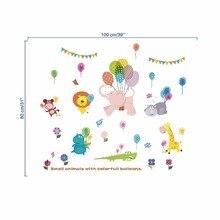 Cute Animal Balloon Nursery Kids Room wall sticker children s room cartoon classroom Wall Decals Poster Home Decor