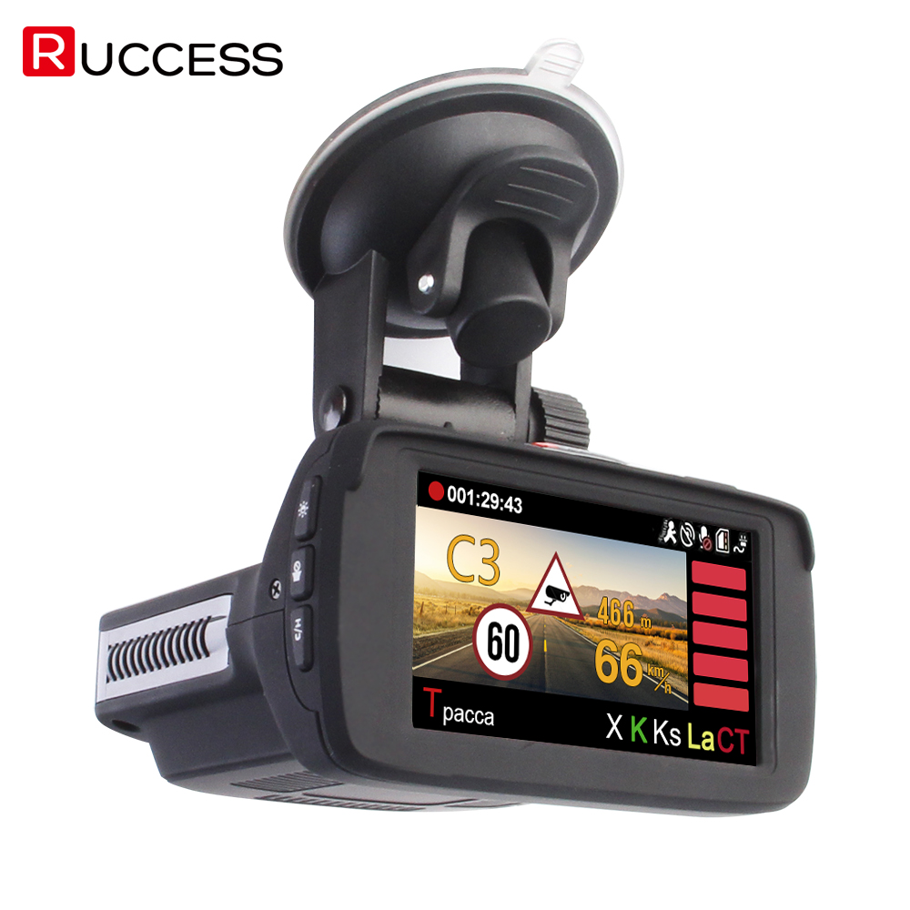 RUCCESS Ambarella A7LA50D <font><b>DVR</b></font> <font><b>3</b></font> <font><b>in</b></font> <font><b>1</b></font> Full HD 1080P Video Recorder Anti <font><b>GPS</b></font> <font><b>Radar</b></font> <font><b>Detector</b></font> 1296P <font><b>Car</b></font> Camera Speedcam Night Vision image