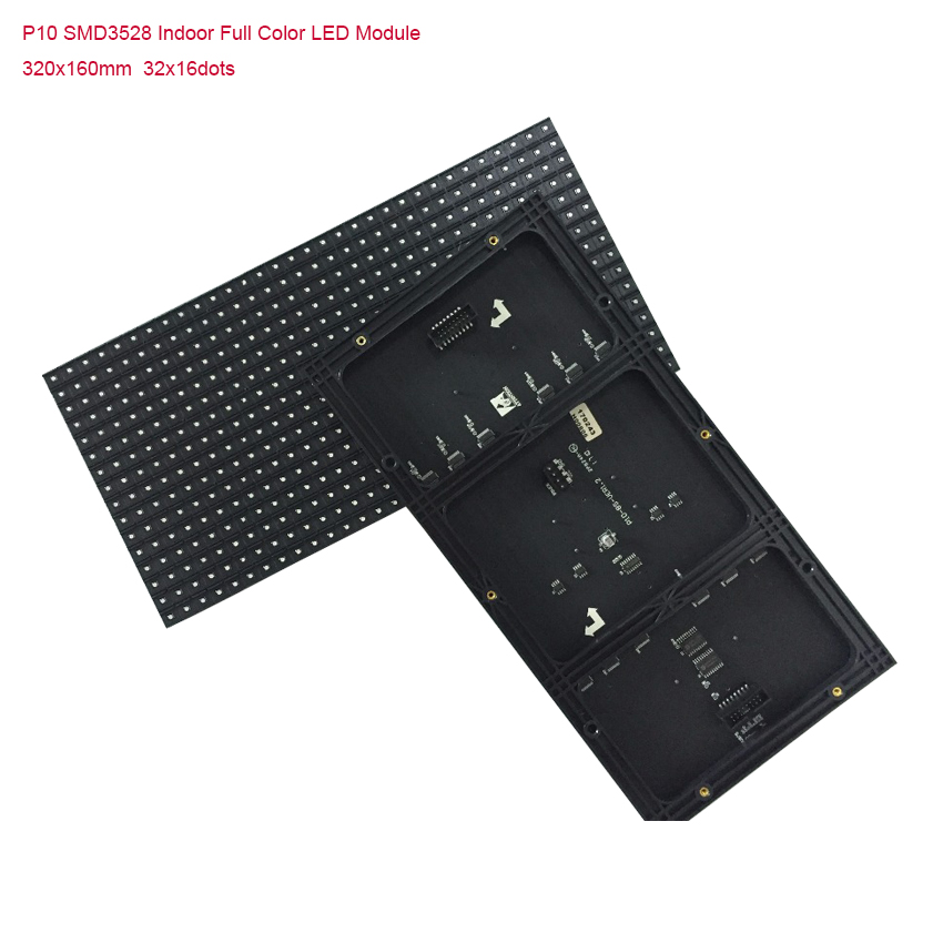 Free Shipping HD Indoor P10 SMD 320x160mm Full Color Led Module 32x16dots Led Panelfor Advertising, Led Display Screen