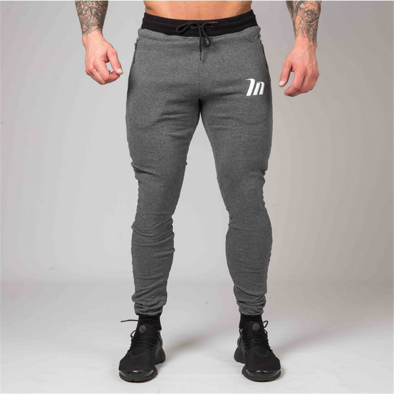 New Joggers Skinny Sweatpants Men Casual Pants Cotton Running Track Pants Male Gym Fitness Sport Training Bodybuilding Trousers
