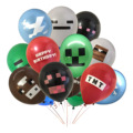 10 шт Pixelated Red TNT воздушный шар игра латексные шарики для вечеринки день рождения украшения игрушки для детей Globos