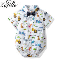ZAFILLE 2020 Baby Boy Clothes Newborn Infant Kids Clothes Cotton Baby Romper Short Sleeve Animal Printed Toddler Boys Jumpsuits zafille long sleeve baby romper printed baby boy clothes cotton newborn infant baby girl clothing kids clothes baby jumpsuits