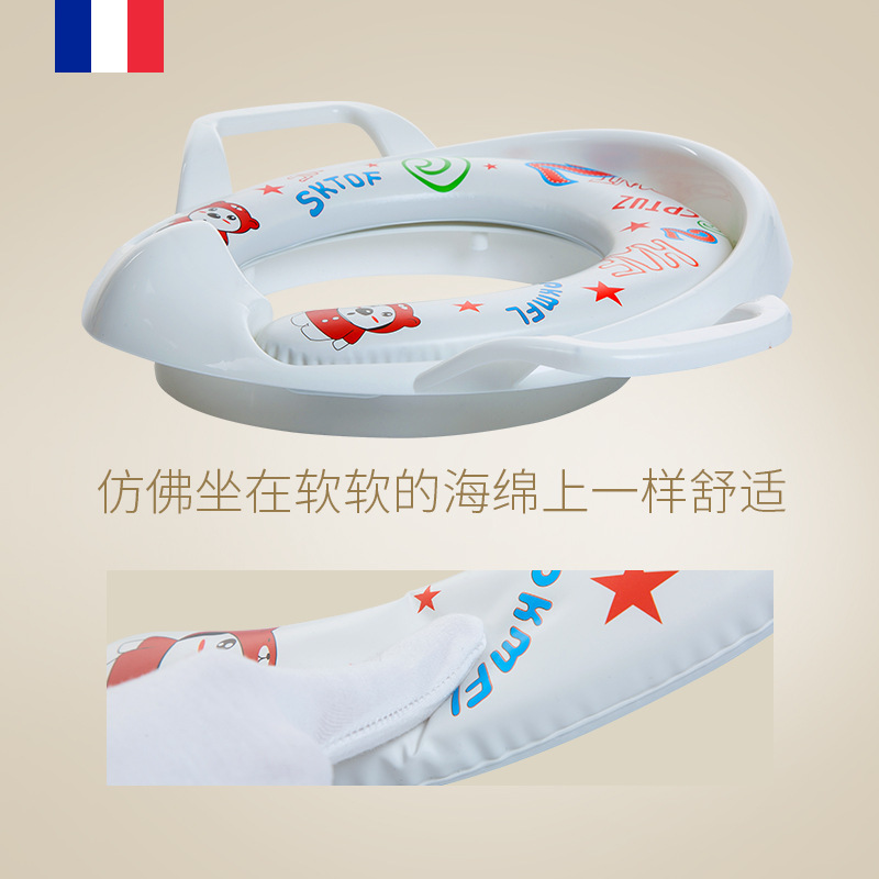 CHILDREN'S Toilet Toilet Infant Baby Chamber Pot Toilet Seat Kids Padded Pedestal Pan Toilet Seat