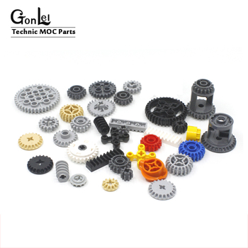 5-50Pcs Technic Gears Parts Compatible with Technic Brick 10928 Gears 6589 Parts 6-40 teeth 3648 32270 3649 94925 parts DIY Toys 20pcs lot technic parts ev3 bionicle 1x3 tooth with axle hole brick blocks parts diy toys compatible with major parts boy gifts