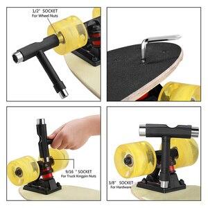 Professional All-in-one T-type Skate Tool Screwdriver Socket Multi-functional Skateboard Adjusting T-tool NEW!