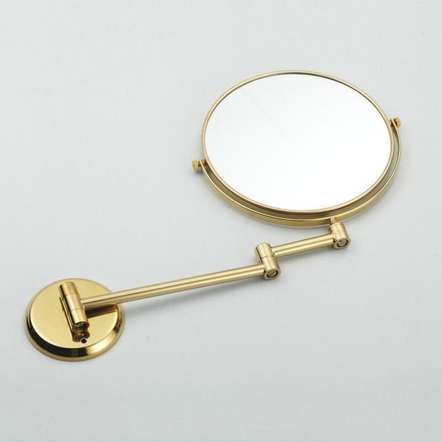 Купить двухстороннее складное латунное зеркало для макияжа в ванную картинки цена