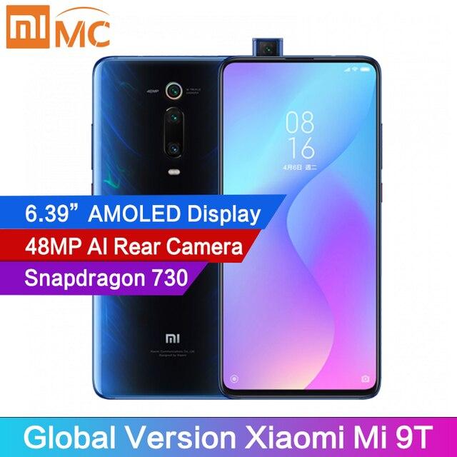 """Version mondiale Xiaomi Mi 9T 6GB téléphone Mobile Snapdragon 730 AI 48MP caméra arrière 4000mAh 6.39 """"AMOLED affichage MIUI 10"""