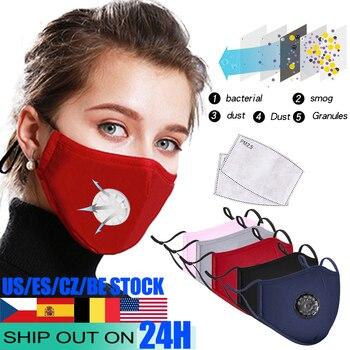 Máscara de boca negra de algodón máscara Personal filtro de carbón activado a prueba de viento mascarilla facial Personal cuidado de la boca