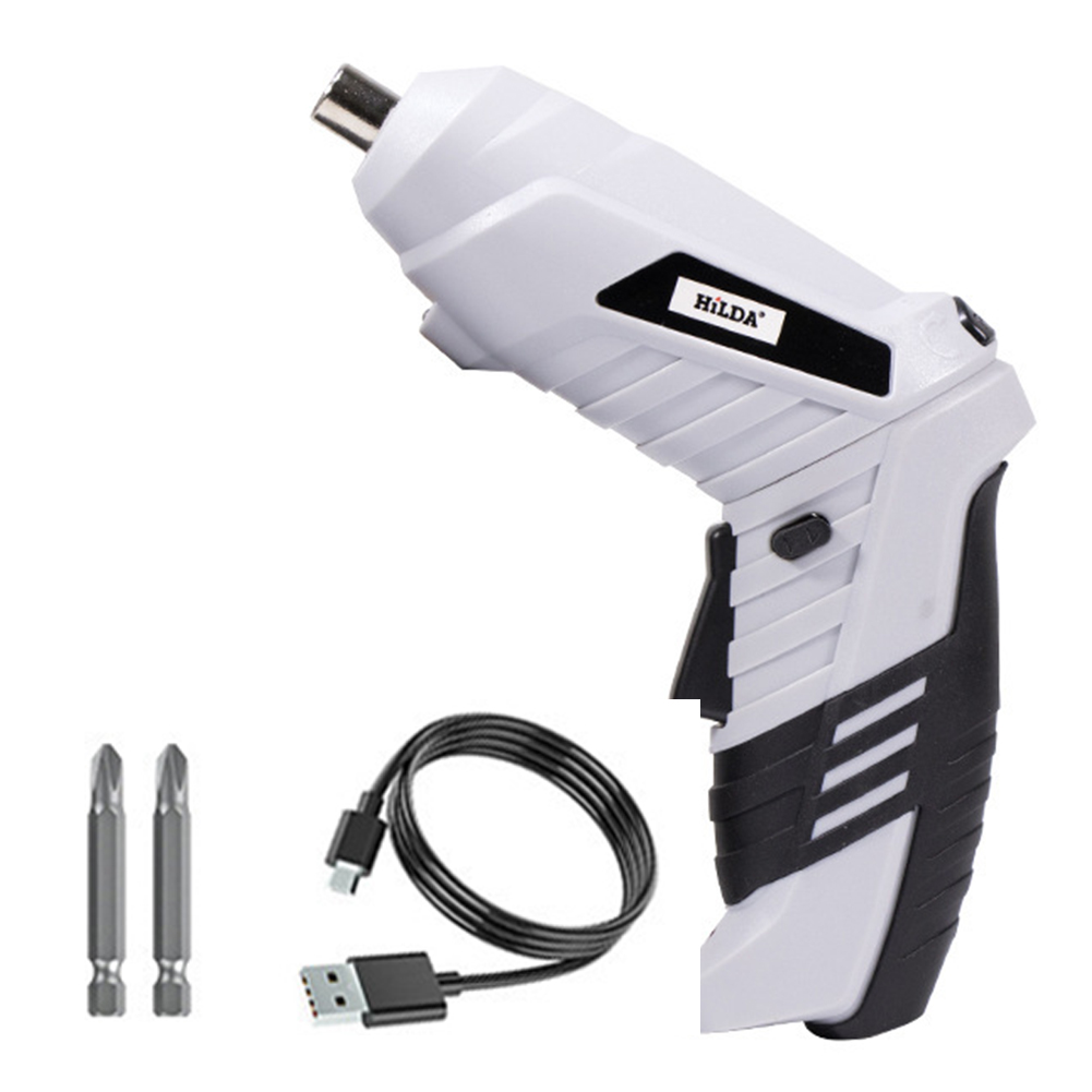 Electric Screwdrivers Cordless Rechargeable Power Strong Toughness Electric Portable Battery Drill with LED Light