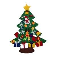 Feutre arbre de noël pour enfants 3.2Ft sapin de noël à monter soi-même avec les tout-petits 30 pièces ornements pour enfants cadeaux de noël suspendus porte de la maison W