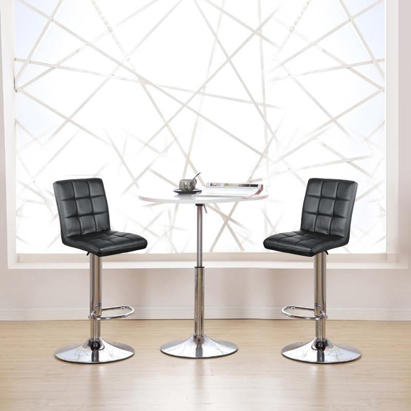 2pcs/set Adjustable Bar Chair Without Armrests  Modern Bar Stools Bar Chair Soft PU Leather Swivel High Bar Stool Furniture HWC