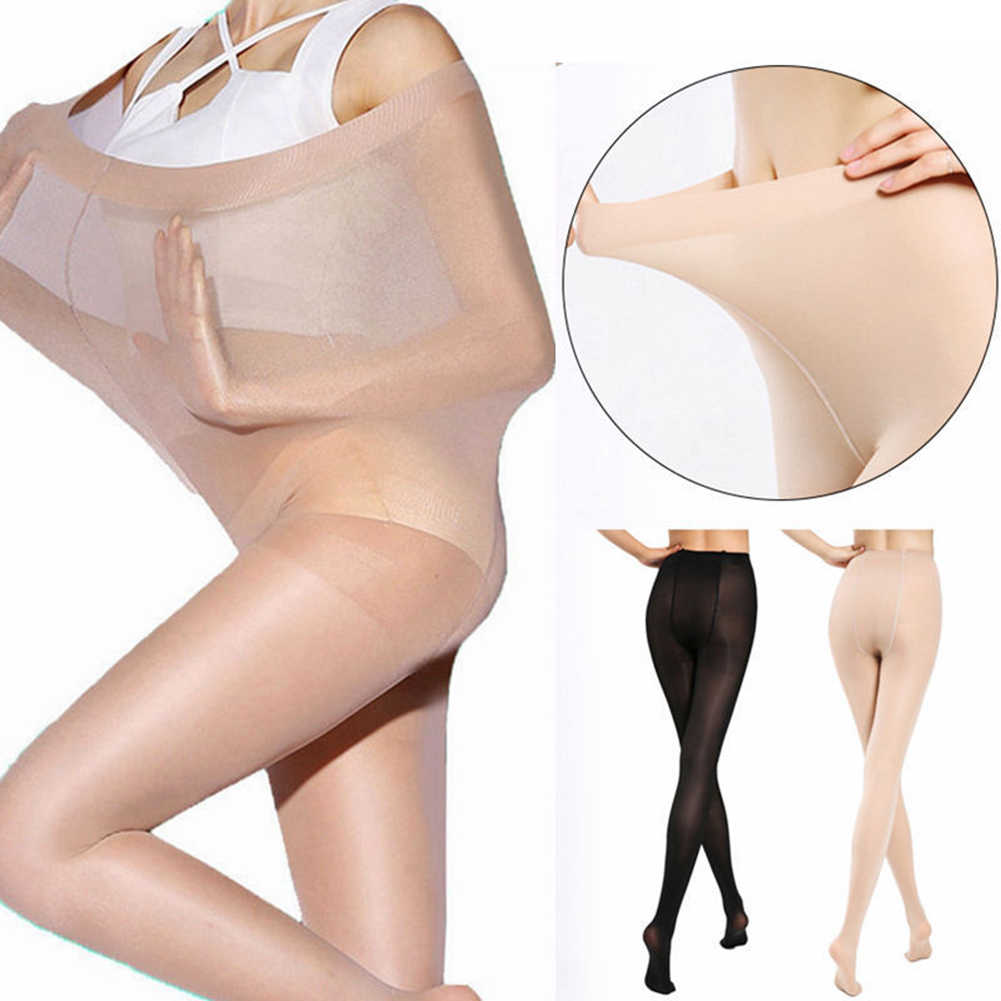 Ultra Tipis XL Lemak Mm Anti-Hook Elastis Tinggi Pantyhose Double Plus Sutra Kaus Kaki