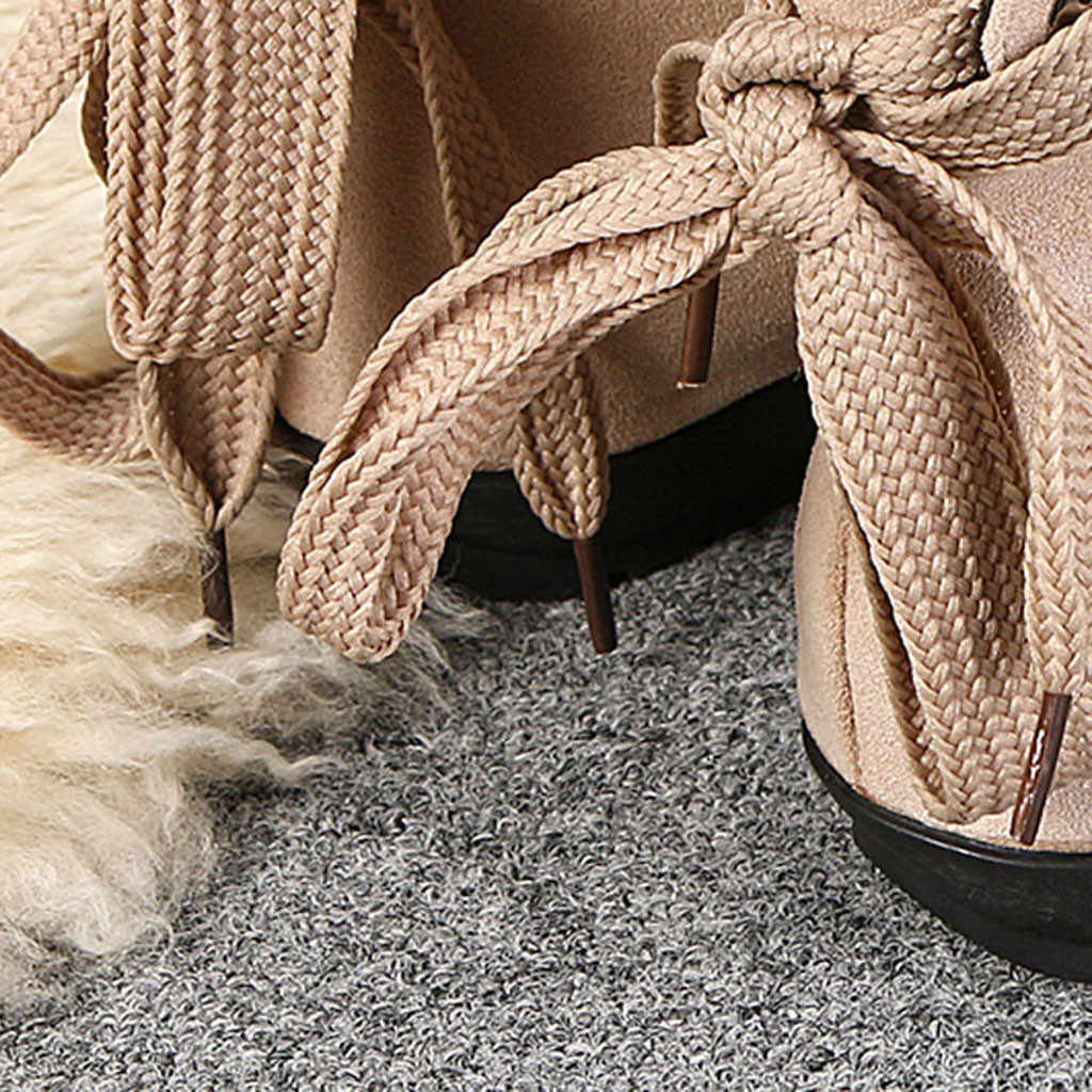 2019 Kadın Botları Moda Bayan Ayakkabıları Süet Deri Toka Çizmeler Düşük Topuklu kar ayakkabıları Bayanlar Lace Up Toka kısa çizmeler #920