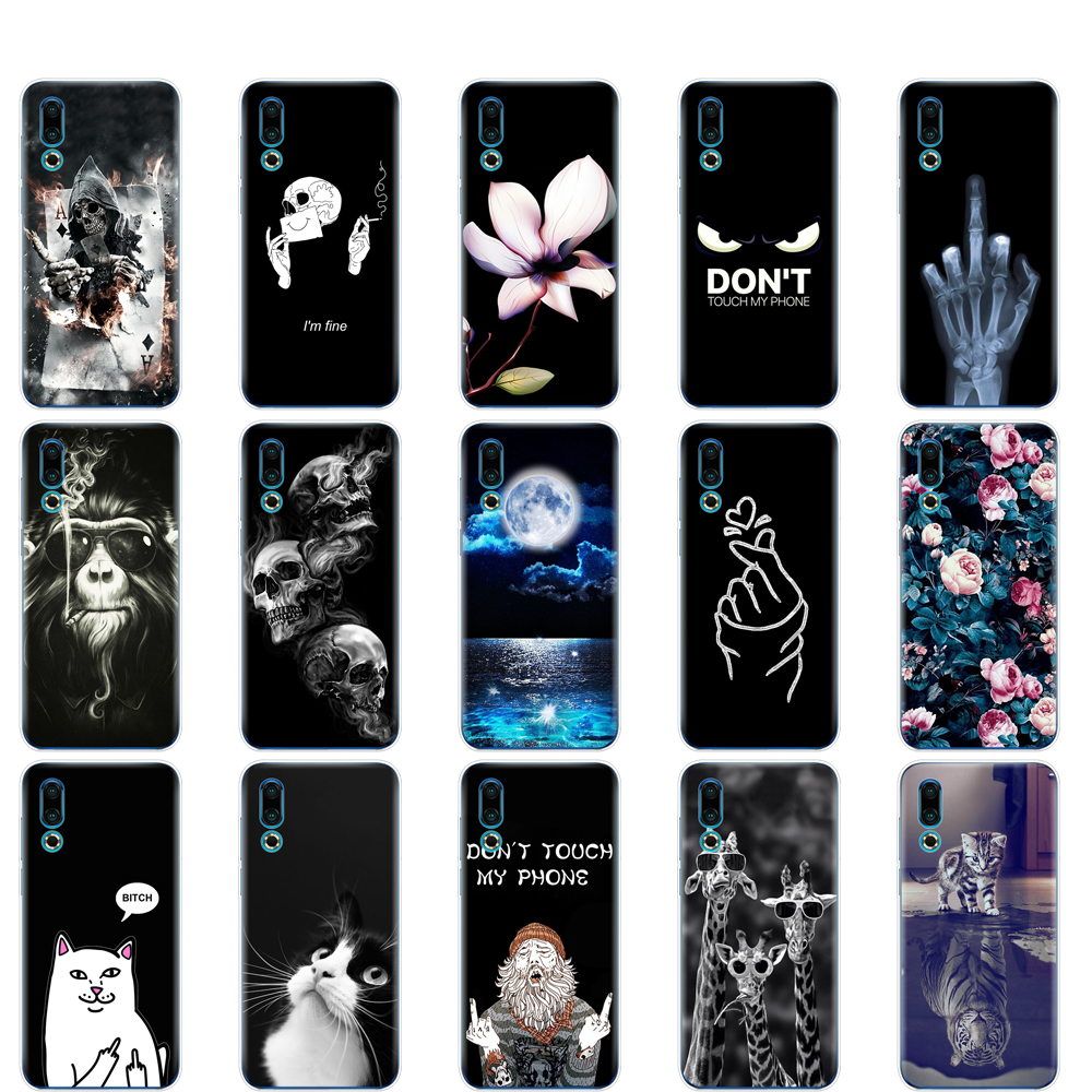 For <font><b>Meizu</b></font> 16S Case 6.2'' Painted Soft TPU Silicon Back Cover For <font><b>Meizu</b></font> 16s <font><b>16</b></font> S Phone Cases For Meizu16S Protective Coque Bumper image