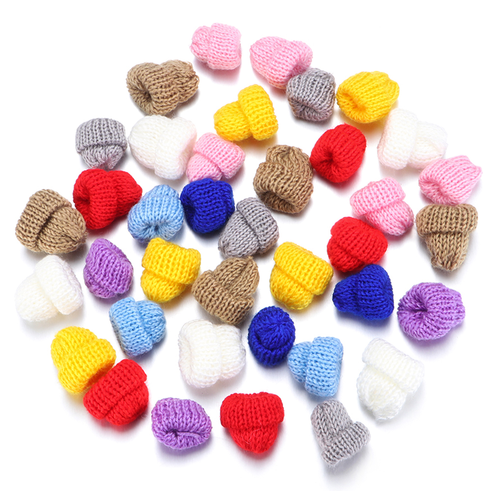 10pcs/Pack Mini Small Knitting Hat For Dolls Hat Phone Case Decoration Kids Fun DIY Headwear Apparel Child Toy Accessories
