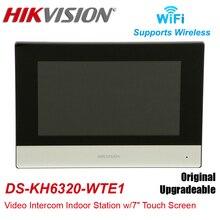 Hikvision DS-KH6320-WTE1 внутренняя станция видеодомофона с 7-дюймовым сенсорным экраном, Стандартный беспроводной монитор POE WIFI