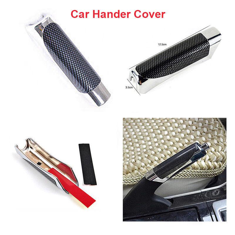 Car Carbon Fiber Handbrake Decorative Cover Hand Brake Break Protector Decoration Cover Protect Hand Brake Break