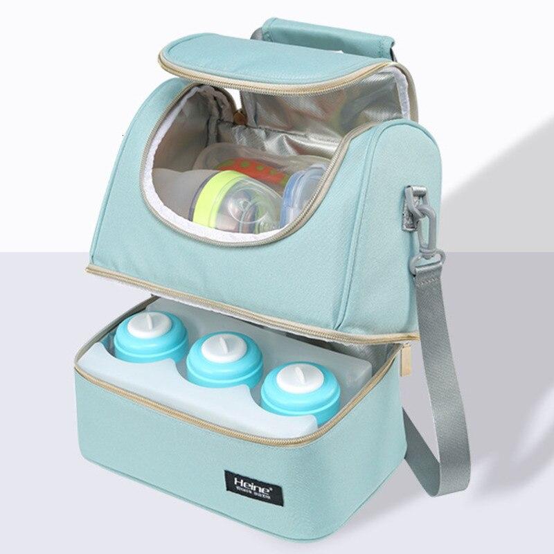 Изоляционная сумка для грудного молока, охладитель для молокоотсоса, для хранения, рюкзак для беременных, двойной слой, свежая бутылочка