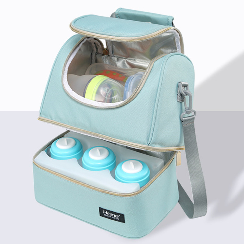 Insulation Bag Breastmilk Cooler Breast Pump Storage Maternity Backpack Double Layer Fresh Keep Feeding Bottle Office Mummy Bags
