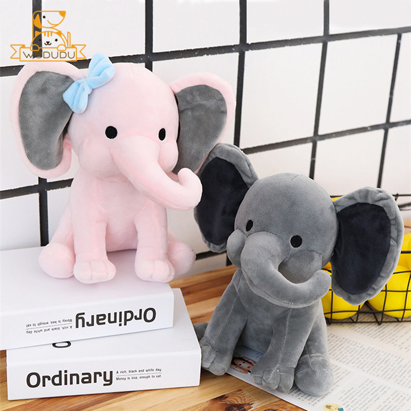 Kawaii Pink Elephant Cute Big Ear Baby Dolls Soft Plush Stuffed Toys Animals Cartoon Figure Pillow Sofa Decor For Children Gifts