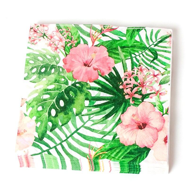 20 piezas decoración de fiesta Tropical hojas de palma Tropical fiesta de verano hojas de palma papel desechable Hawaiano decoración de fiesta suministros Vestido de princesa de La Sirenita de las muchachas de voguek para niños disfraz de fantasía de Ariel de verano ropa de fiesta de playa de escala para niños