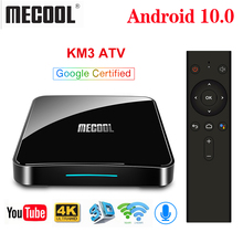 صندوق تلفاز ميكول KM3 ATV أندرويد 10.0 معتمد من جوجل 4GB 64GB Androidtv Amlogic S905X2 KM9 Pro 4GB RAM 32GB 4K Wifi مجموعة صندوق