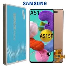 Orijinal AMOLED Galaxy A51 LCD çerçeve ile Digitizer sensörü meclisi Samsung A51 ekran A515 A515F A515F/DS, a515FD A515F