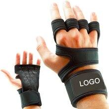 Пара фитнес-перчаток для тренажерного зала, защита для ладоней, защита для запястья, поддержка тренировок, бодибилдинга, защита для тяжелой атлетики