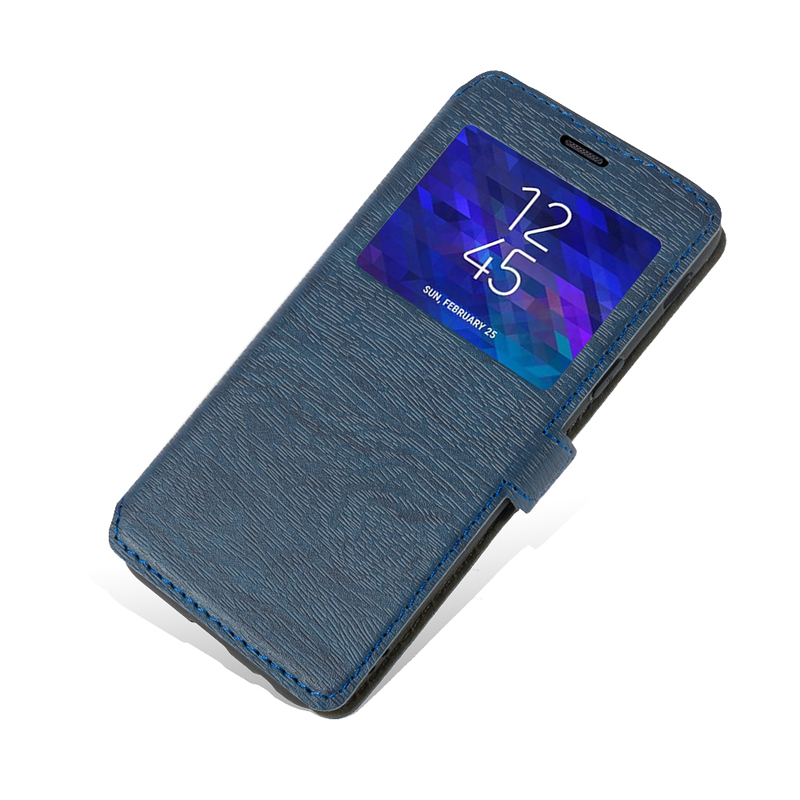 Pu Leather Phone Case For <font><b>Homtom</b></font> HT <font><b>70</b></font> Flip Case For <font><b>Homtom</b></font> HT70 View Window Book Case Soft Tpu Silicone Back Cover image
